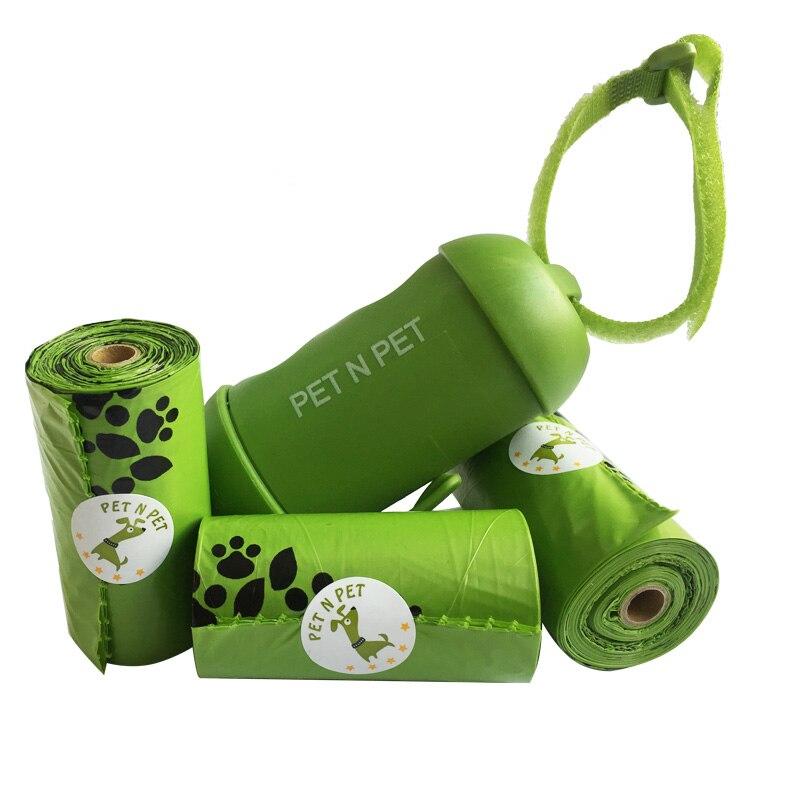 Dog poop bags 1 rolls with 1 green dispenser sony беспроводные наушники