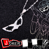 Anime PERSONA 5 Necklace Joker Pendant Necklace 925 Silver Joker Fox Mask Necklace for Women Party Cosplay Jewelry