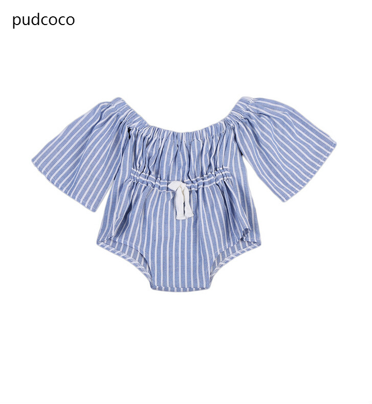 2018 New Summer Family Matchin Blue Striped Jumpsuit Mother Daughter Women Kids Girls Bandeau Romper Jumpsuit Playsuit Clothes Terrific Value Matching Family Outfits