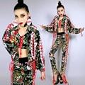Ds vestuario teatral sexy dj cantante femenina hiphop hip-hop hiphop conjunto para bailarín del cantante star nightclub mostrar