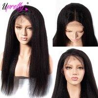 Upretty 360 Синтетические волосы на кружеве al парик бразильский странный прямо парик Синтетические волосы на кружеве человеческих волос парики