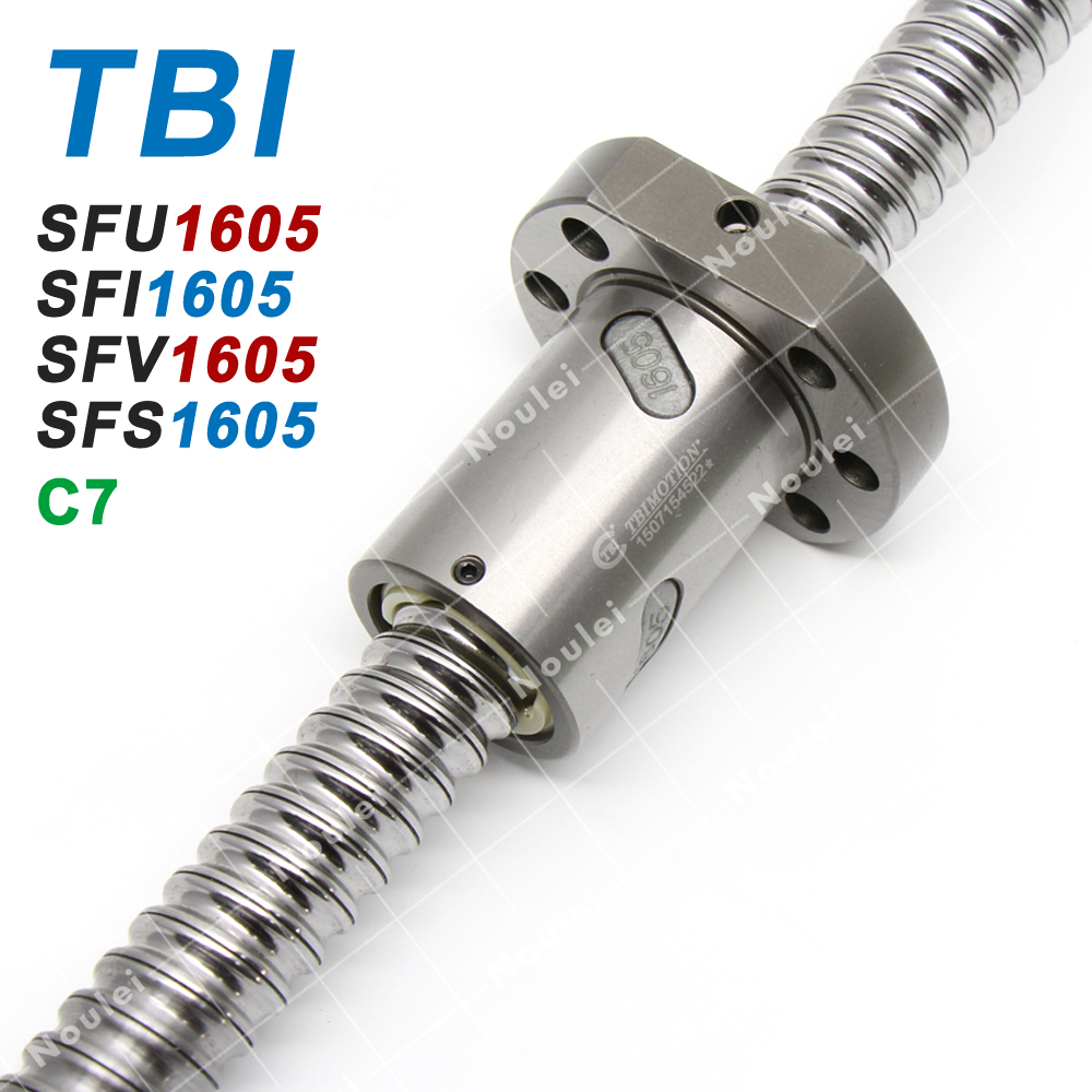 SFU1605 L200mm rolled ballscrew C7 with 1605 flange single ball nut for CNC part
