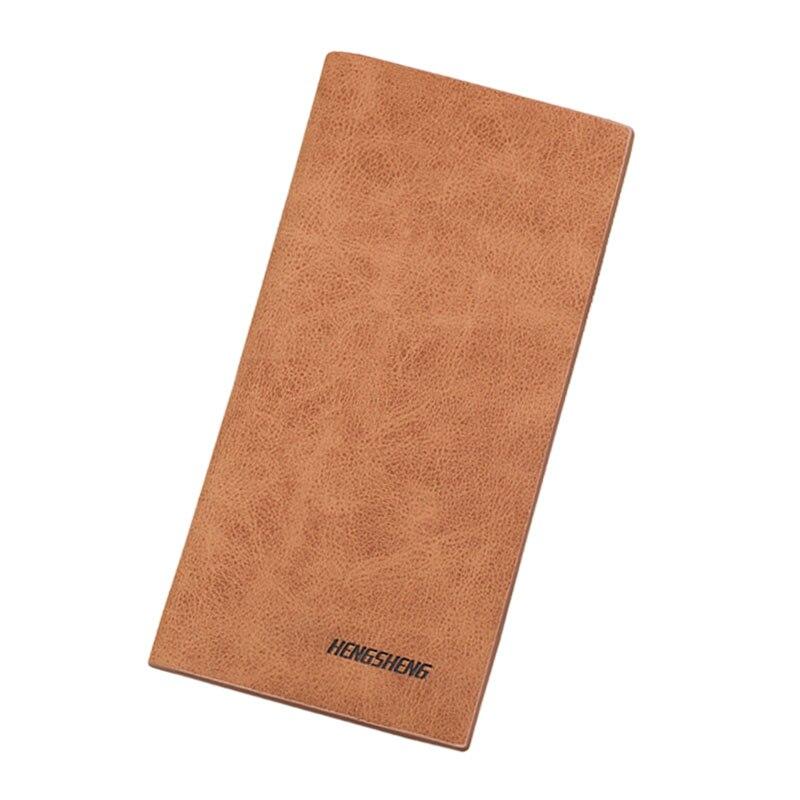2017 Hot Sale Men Leather Long Wallets Solid Colore Clutch Wallet Card Holder Slim Soft Purse Male's Matte Casual Handy Purses hot sale cotton solid men tank top