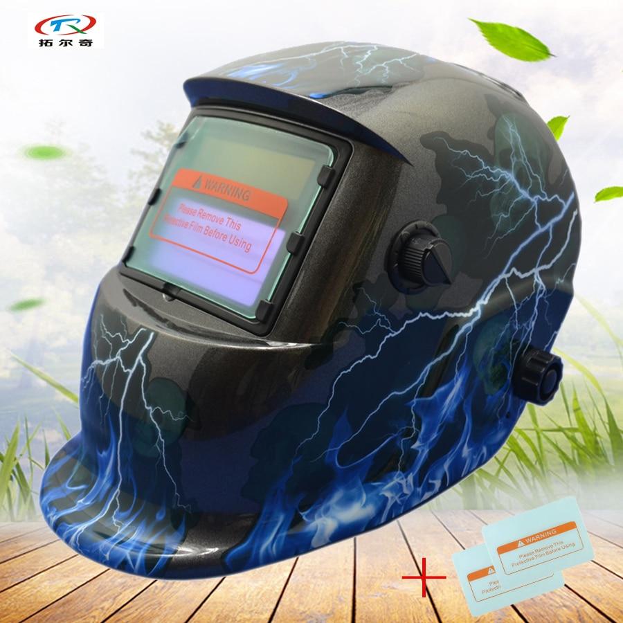 Mig machine de soudage plein visage yeux protection de soudage masque casque et Mascara Soudeur Masque Solaire et alimentation HD41 (2200DE) W