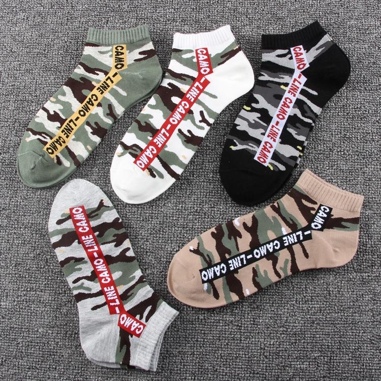Jeseca Korean Fashion Camouflage Print Mens Cotton Soft Sock 2019 Autumn Winter Warm Sock For Business Male Harajuku Vintage Sox