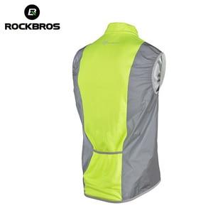 Светоотражающий Жилет ROCKBROS, жилет для велоспорта без рукавов, для мужчин, для велосипеда, ветрозащитная, флуоресцентная, дышащая, велосипедная жилетка, Джерси
