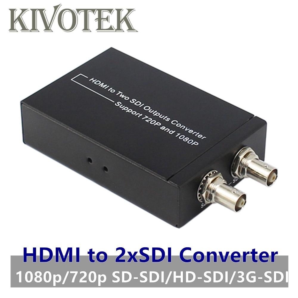Adaptateur convertisseur séparateur HDMI vers 2 xSDI HD1080P SD-SDI/HD-SDI/3G-SDI connecteurs mâles pour caméra de diffusion CCTV PC livraison gratuite