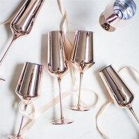 Розовое золото красное вино Стекло Cyrstal бокалы сок, напиток бокал шампанского вечерние Barware ужин воды шик, роскошь 425 ml 400 мл
