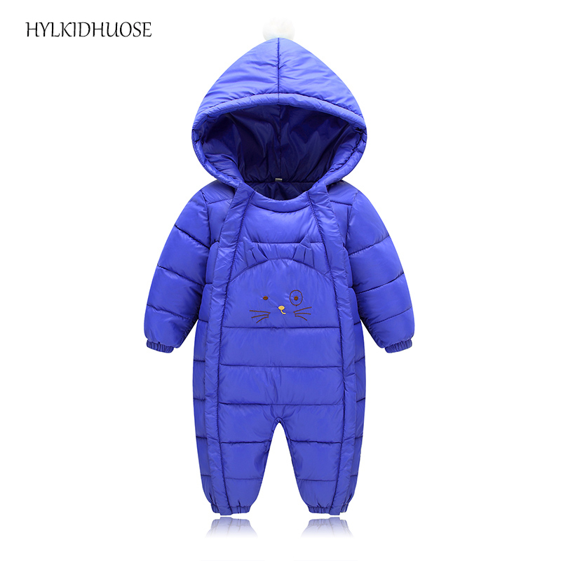 HYLKIDHUOSE 2017 Winter Infant/Newborn Rompers Cotton Baby Girls Boys Warm Rompers Hooded Casual Children Outdoor Kids Jumpsuits new 2016 autumn winter kids jumpsuits newborn baby clothes infant hooded cotton rompers baby boys striped monkey coveralls