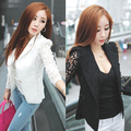 Women's Elegant Coat Lace Splicing Slim Suit Jacket Fashion Casual Outerwear Store 50