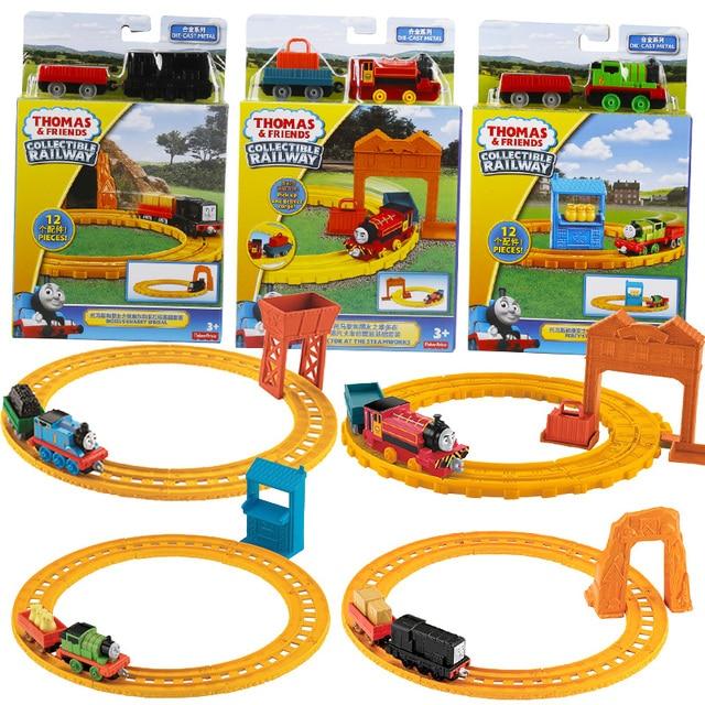 Originais Thomas e Amigos o Baseado em Caixa de Presente Brinquedo do Menino Terno de Trilha Liga Trenzinho BLN89 O Modelo Do Trem brinquedos do menino