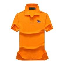 Summer 100% Cotton Polo Shirt Men Short Sleeve Casual Mens Shirts Camisa Soft Quality Polos