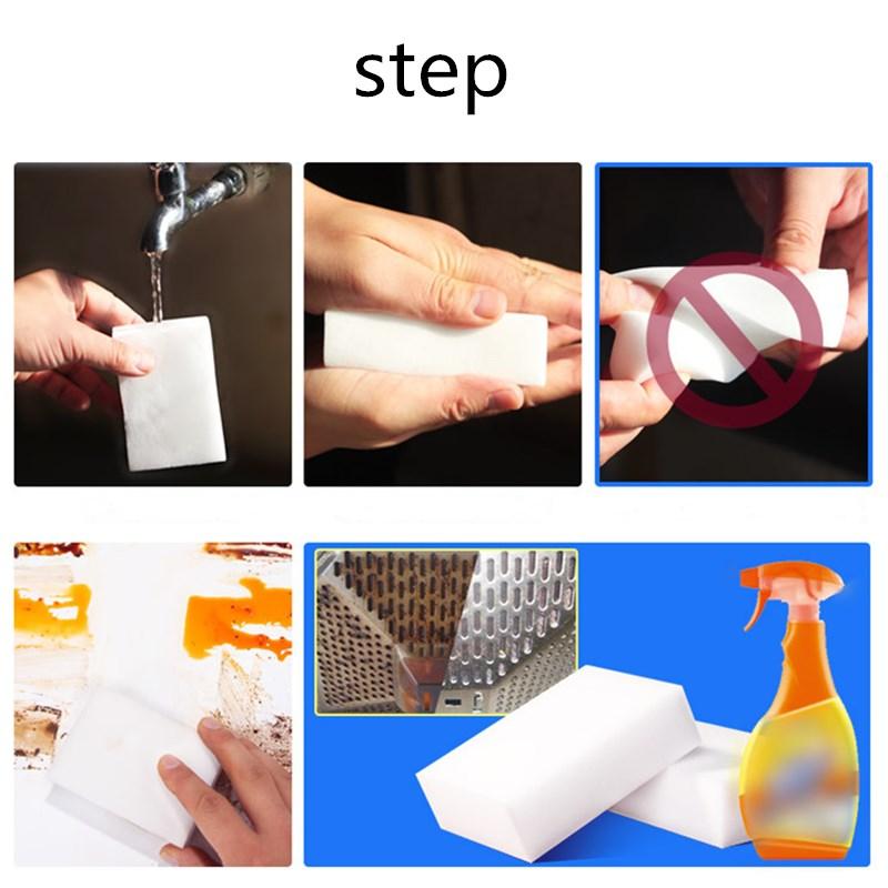 Image 2 - 5/10/20pc Melamine Sponge Magic Sponge Eraser Melamine Cleaner for Kitchen Office Bathroom Cleaning Nano Sponges 10*7*3/10x6x2cm-in Sponges & Scouring Pads from Home & Garden