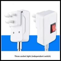 Universal extension lamp holder LED energy saving light bulb lamp socket three plug 5pc