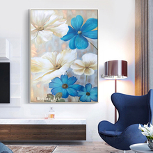 Large aritist pure vertical Textured painting HandPainted Flower Oil Painting Wall Decoration Canvas Art Picture for living room