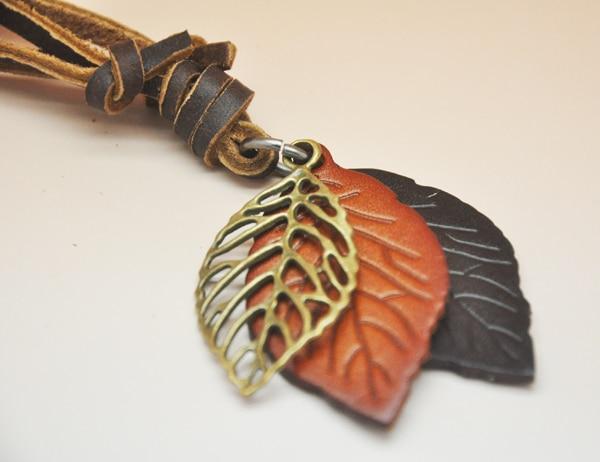Perhiasan pernyataan kalung & liontin wanita Kalung kulit collier - Perhiasan fashion - Foto 5