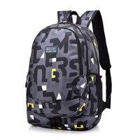 New Women Nylon Backpack School Bags For Girl Teenagers Casual Student Travel Bag Rucksack Fashion Letter
