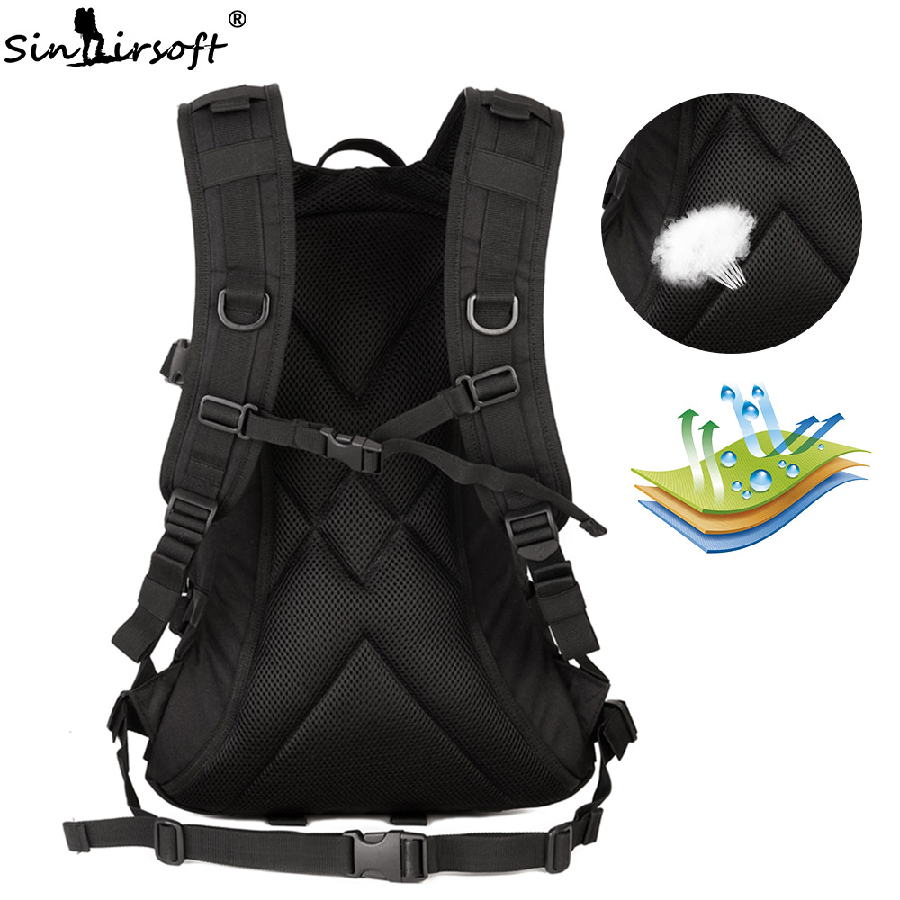 SINAIRSOFT Outdoor Military Tactical Backpack Trekking Sport Travel 25L Nylon Camping Hiking Rucksack Camouflage Army EDC Bag in Climbing Bags from Sports Entertainment