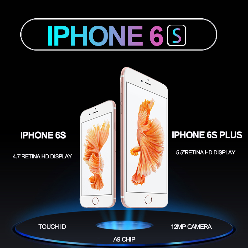 """Brand New Apple iPhone 6S/6S Plus Specially-Unlocked 4.7/5.5"""" Retina Display 12MP Camera A9 Chip TouchID IOS Mobile Phone3DTouch"""
