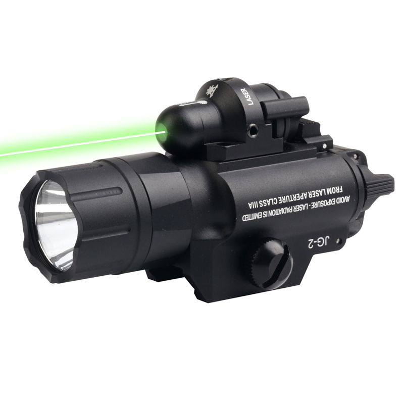 New High Grade Aluminum Alloy Outdoor Hunting Low Temperature 420 Lumens CREE Tactical Flashlight 5mW Green Laser Beam.