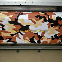 Large Desert Camo Car Vinyl Wrapping Film Bubble Free For Car Decal
