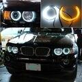 Для BMW E53 X5 1999-2004 Отлично Ultrabright Двойной Цвет Горки smd LED Angel Eyes Halo Кольца комплект