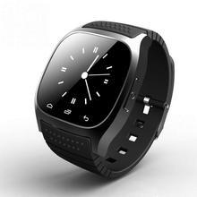 Neueste uhr m26 smart sport armbanduhr smartwatch mit zifferblatt sms erinnern musik-player schrittzähler für android samsung smartphones