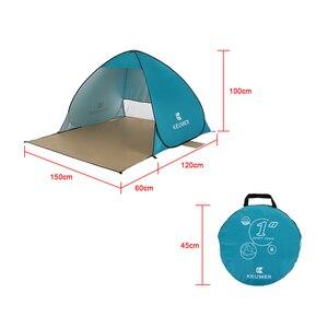 Image 5 - Odkryty automatyczny namiot kempingowy namiot plażowy anty UV schronisko Camping wędkowanie piesze wycieczki piknik natychmiastowa konfiguracja Outdoor Sunshelter