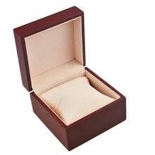 Reloj de caja de Embalaje Caja de Regalo para Los Relojes Marrón Cuadrada Antique Madera Fibrosidad Plaza Caja de Reloj 10*10*6.6 cm de lujo Reloj caja