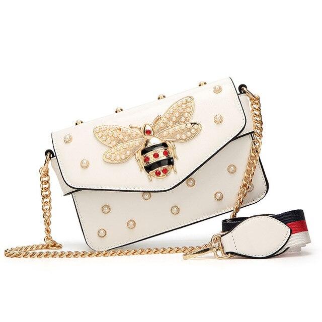 Bee Pearl Crossbody Messenger Shoulder Bag 1