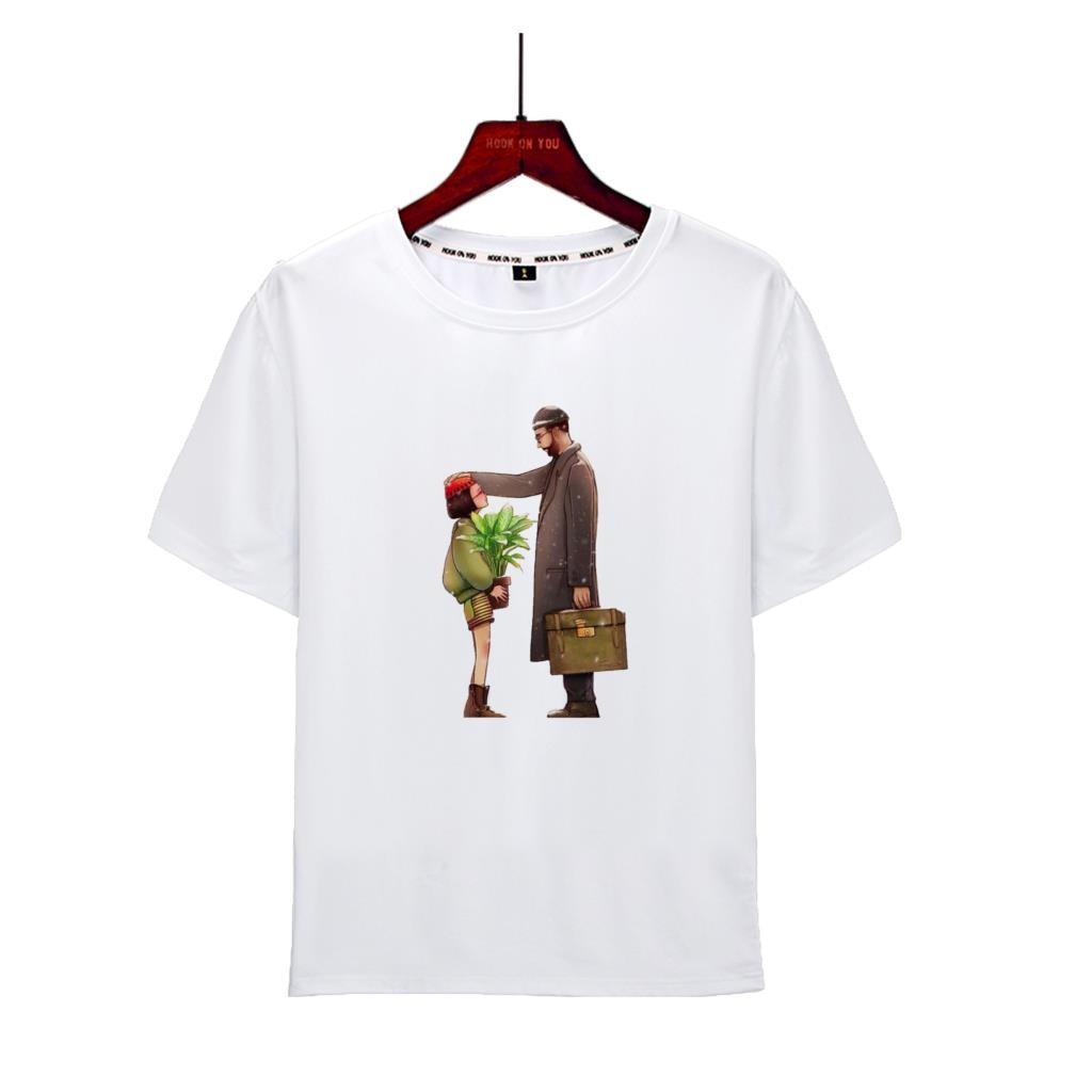 Movie Leon Man T Shirt Men Women Leon Teach Matilda Shoot Top Tees Shirt Couples H White O Neck T-shirt New 2019
