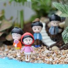Chinese Kids Figurine Resin Craft DIY Crafts Resina Miniature Garden Decorations