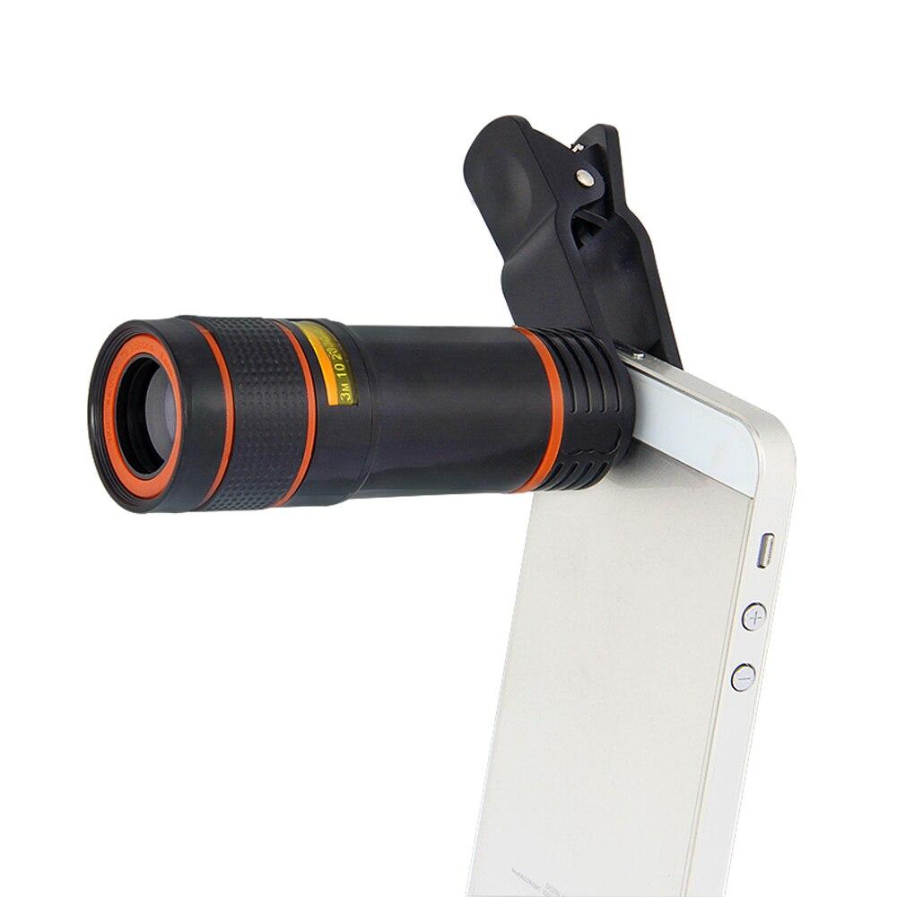 Click-on Mobiele Telefoon Lens Universele 12x Mobiele Telefoon Tele Telescoop Lens HD Camera 12 keer Zoom Focus Externe
