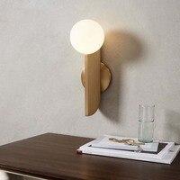 Nordic медь современный светодио дный светодиодный настенный светильник дома освещение в помещении ванная комната зеркало свет стекло мяч на