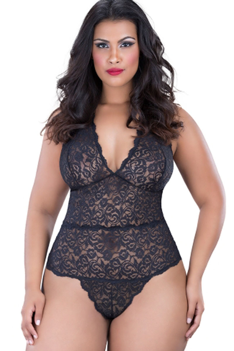 2017 New Women Lace <font><b>Sexy</b></font> Lingerie Hot Babysuit <font><b>Sexy</b></font> Teddy Perspective Deep V Neck Underwear <font><b>Sexy</b></font> <font><b>Costumes</b></font> Plus Size XXL <font><b>XXXL</b></font> image