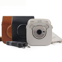 FUJIFILM Instax SQUARE SQ20 SQ10 Camera Bag Case PU Leather Vintage Shoulder Strap Pouch Protective Carry Cover