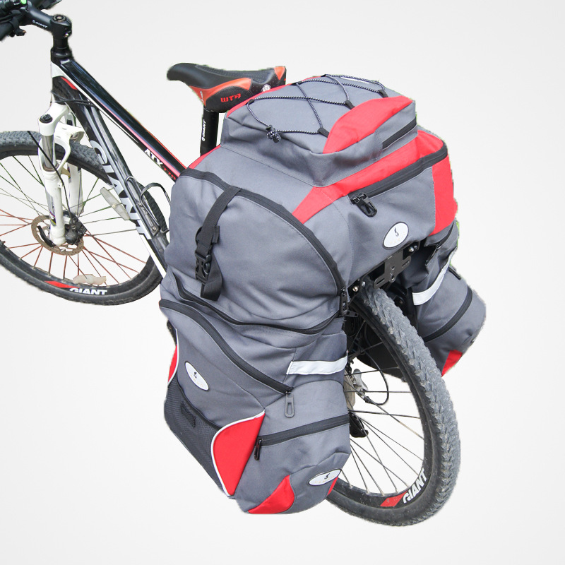 YANHO 65L Big Capacity Oxford 3in1 Mountain Road Cycling Bike Bicycle Bag One Top+ Double Side Rear Rack Tail Seat Trunk Pannier roswheel 50l bicycle waterproof bag retro canvas bike carrier bag cycling double side rear rack tail seat trunk pannier two bags