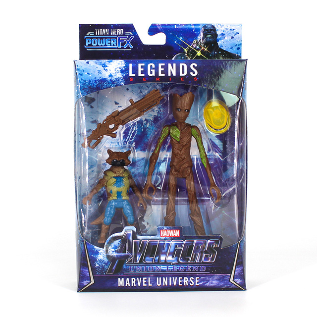 Rocket Raccoon and Groot Basic Action Figures The Avengers Endgame 4