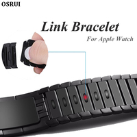 Link Bracelet for apple watch 4 band 44mm iWatch band 42mm 38mm 40mm 3 2 1 adjustable high quality stainless steel strap gen.6