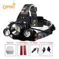8000Lumen Headlamp Q5 XML T6 XM-L2 LED Headlight Flashlight Torch Bicycle Head Light Lamp 18650 Battery Charger Hunting Camping