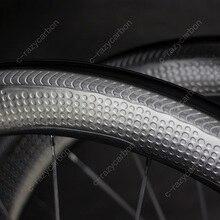 Специальный тормозной поверхности Димпл Углеродные аэродинамические колеса 2 года гарантии 45/50/58/80 Трубчатые/клинчер углеродное колесо 700C дорожный велосипед