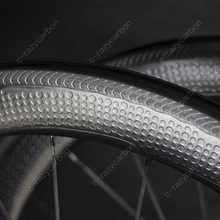 خاص الفرامل سطح الدمل الكربون الهوائية عجلات 2 سنة الضمان 45/50/58/80 أنبوبي/الفاصلة الكربون عجلة 700C الطريق الدراجة