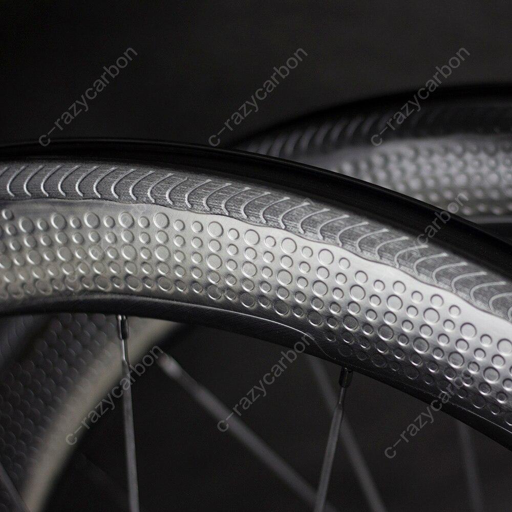 Spécial De Frein Surface Fossette Carbone NS W Roues 2 Année Garantie 45/50/58/80mm Tubulaire /pneu Roue Carbone 700C Vélo De Route