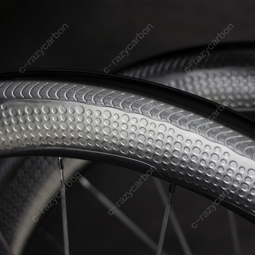 Superficie especial de freno Dimple carbono NS W ruedas 2 años de garantía 45/50/58mm 80 Tubular/rueda de carbono Clincher 700C bicicleta de carretera