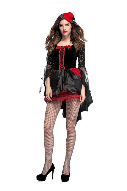 Sexy Witch Halloween Costume Gothic V&ire Cosplay halloween party dress Costume Adult Witch Costume Fancy Dress  sc 1 st  AliExpress.com & Sexy Witch Halloween Costume Gothic Vampire Cosplay halloween party ...