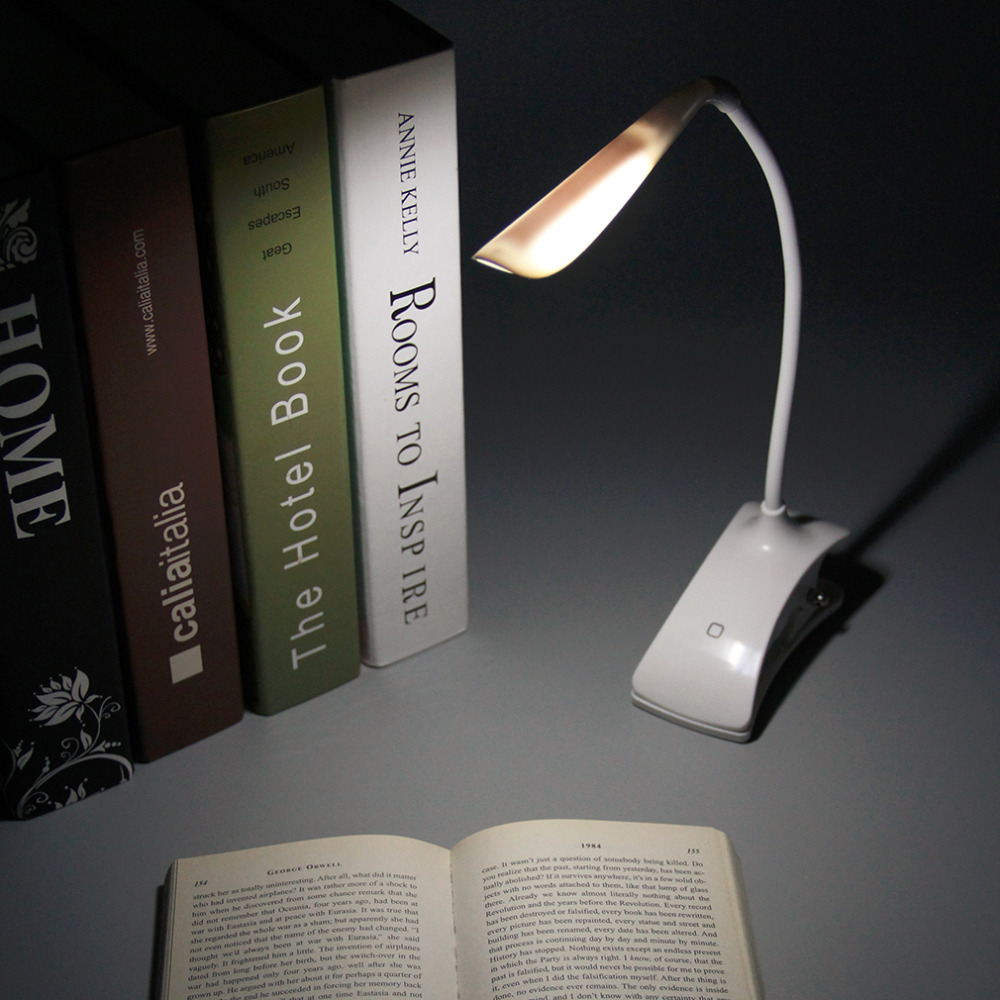 Table lamps for reading in bed - Usb Table Lamp 3 Level Dimmable Lights Clip On 360 Degre Battery Power Led