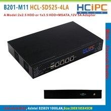 HCiPC B201-M11 HCL-SD525-4LA, Atom D525 82583V 4LAN Mini Firewall,4LAN Mini Router,Mini PC,4LAN Motherboard