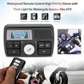 12V Bluetooth Waterproof Anti-Theft Motorcycle Audio FM MP3 Sound Player System Support USB/SD/TF Clock Built-in Microphone Ring