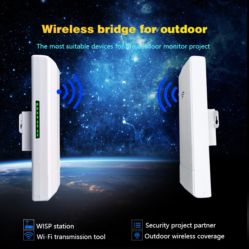 Outdoor WIFI Bridge Repeater Extender Support WDS 5KM Wireless CPE Router 300Mbps Access Point AP