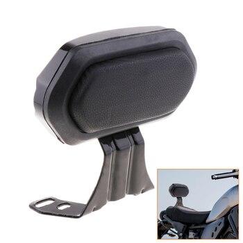 1 Pcs Motorcycle Luggage Rack Bar Rear Passenger Backrest Cushion Pad Black For Universal Motorcycle 9.45×4.53 Inch